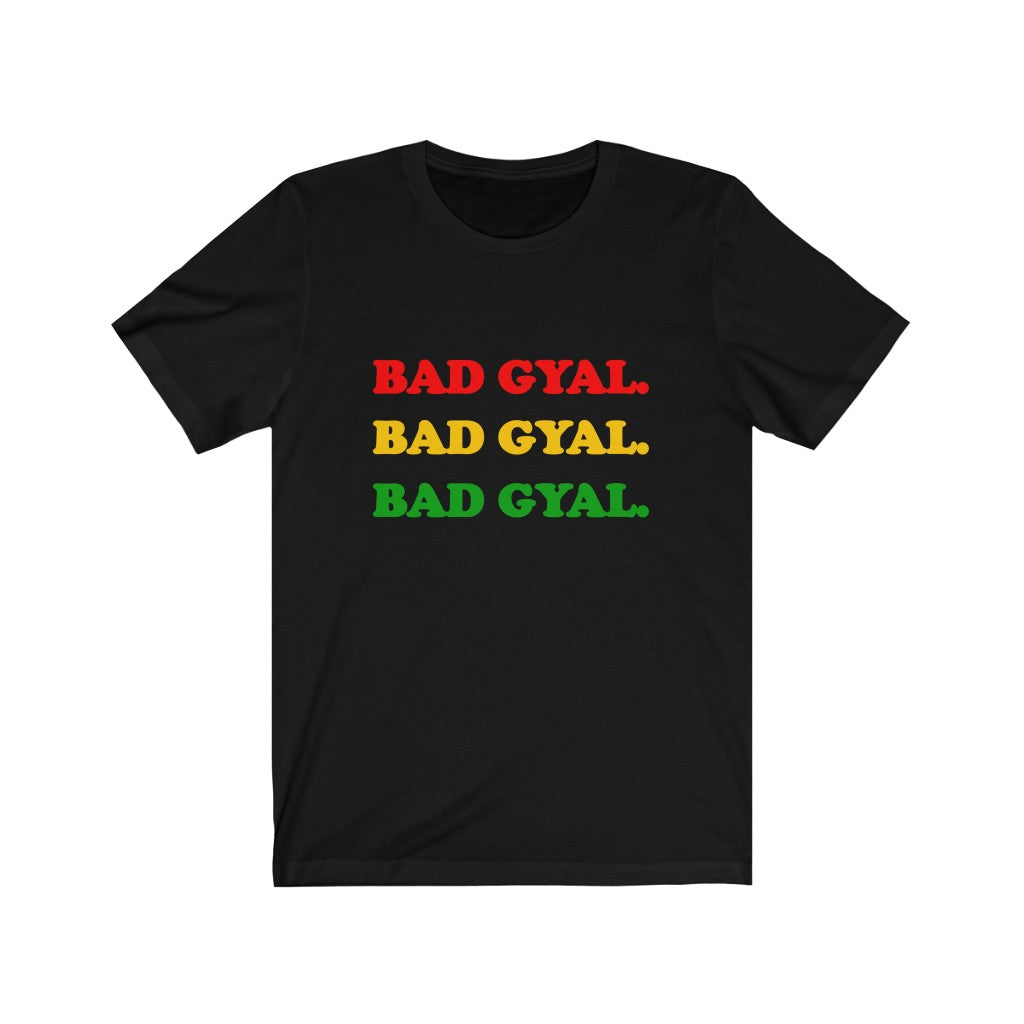 THE RED GOLD AND GREEN BAD GYAL  Unisex Short Sleeve Tee
