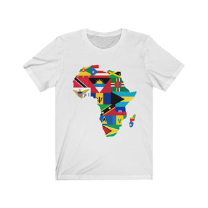 Caribbean Continent Version 1 Unisex Jersey Short Sleeve Tee