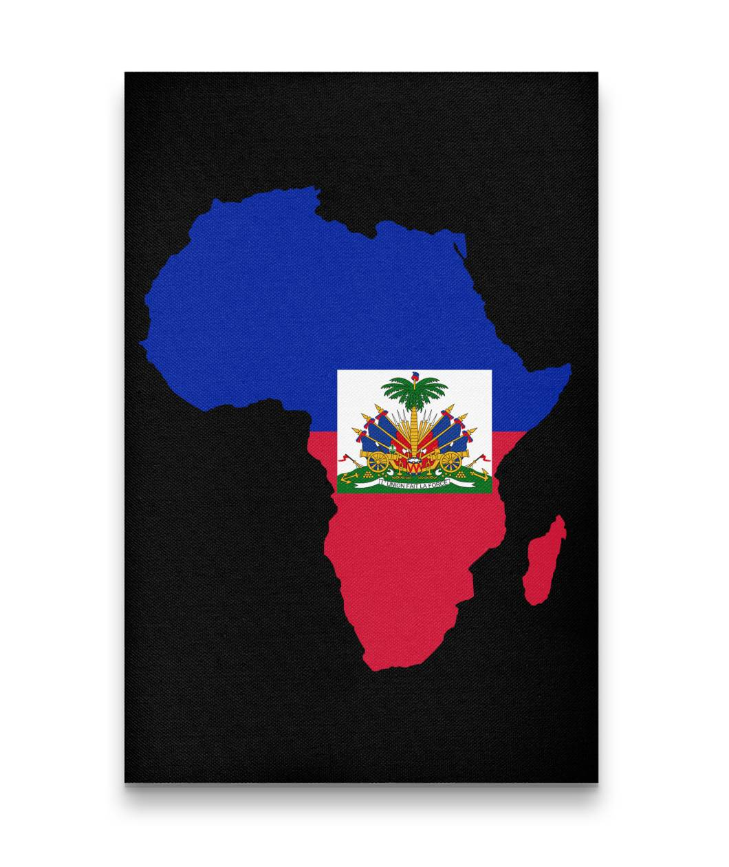 CARIBBEAN CONTINENT HAITI CANVAS ART - Rice & Tees
