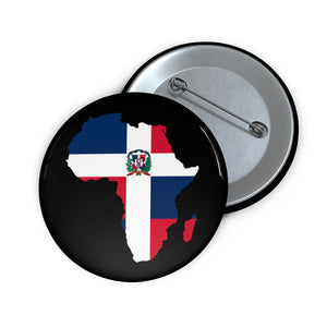 AFRICA - DOMINICAN REPUBLIC Custom Pin Buttons