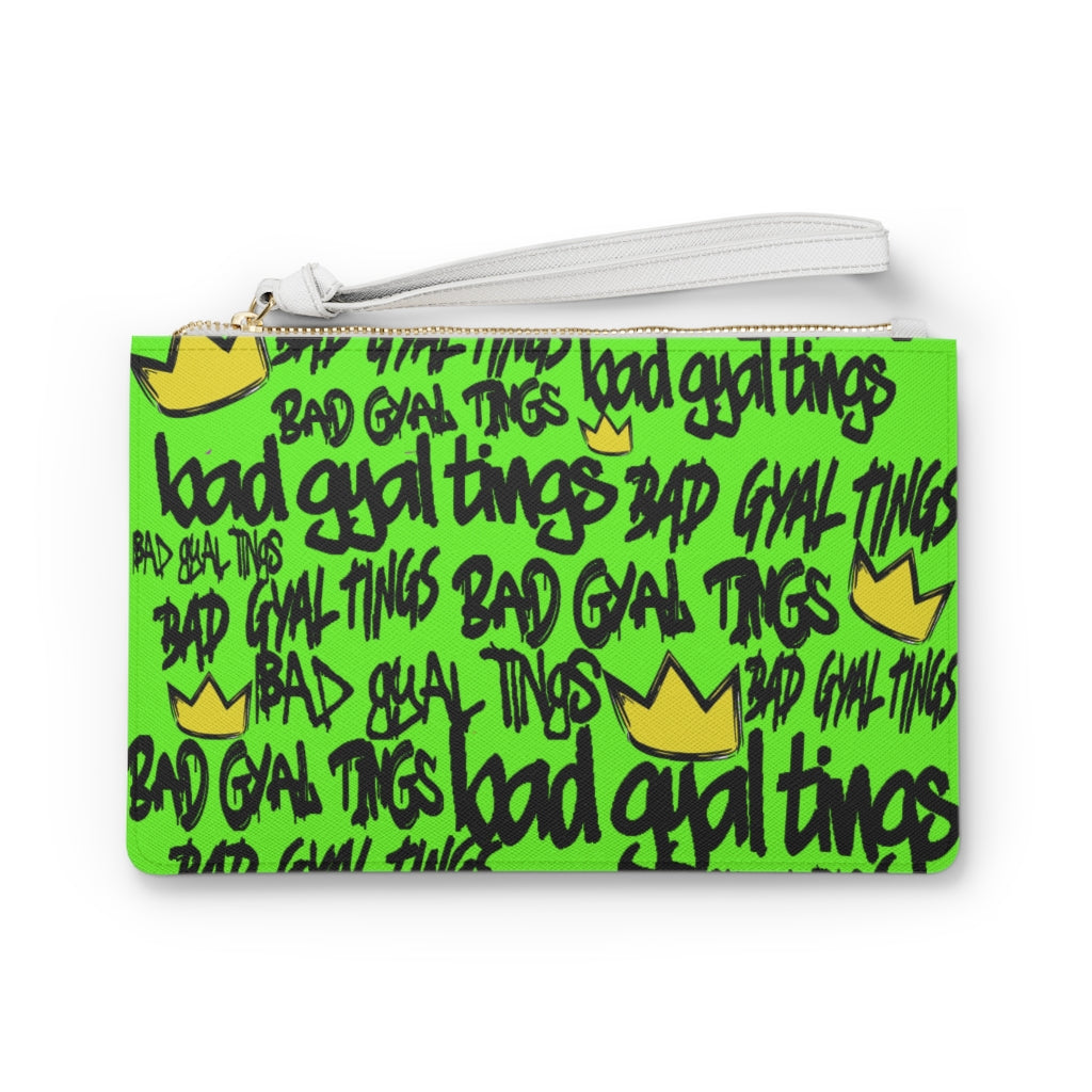 BAD GYAL TINGS Clutch Bag (BRIGHT GREEN)