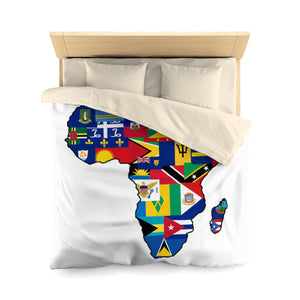 CARIBBEAN CONTINENT 1 Microfiber Duvet Cover - Rice & Tees