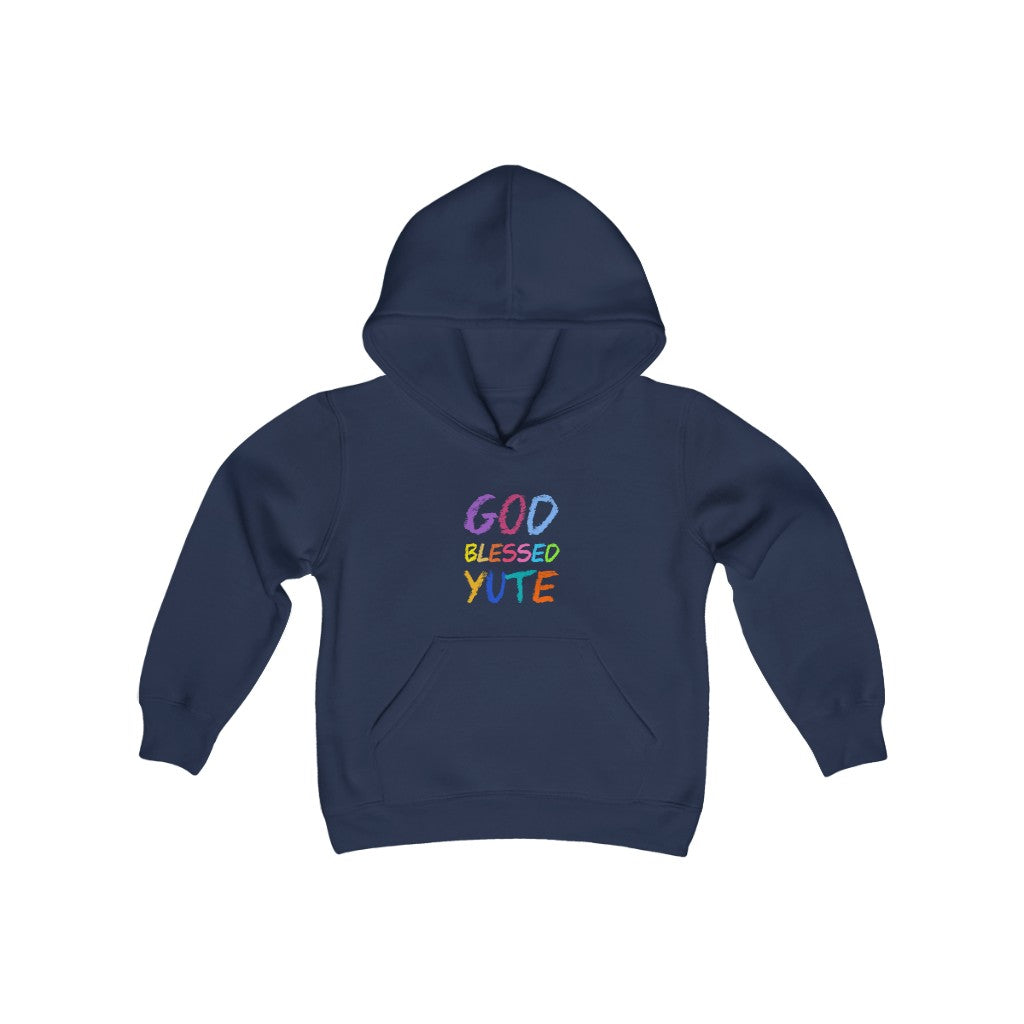 GOD BLESSED YUTE Youth Heavy Blend Hooded Sweatshirt