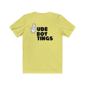 RUDE BOY TINGS GUNFINGER STACKED Unisex Jersey Short Sleeve Tee