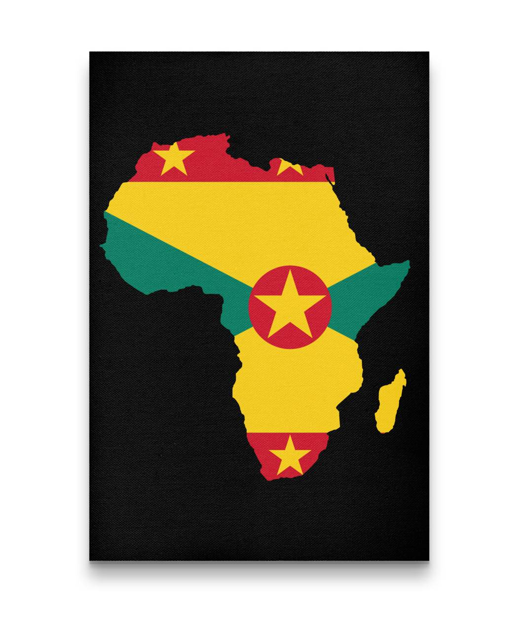 CARIBBEAN CONTINENT GRENADA CANVAS ART - Rice & Tees