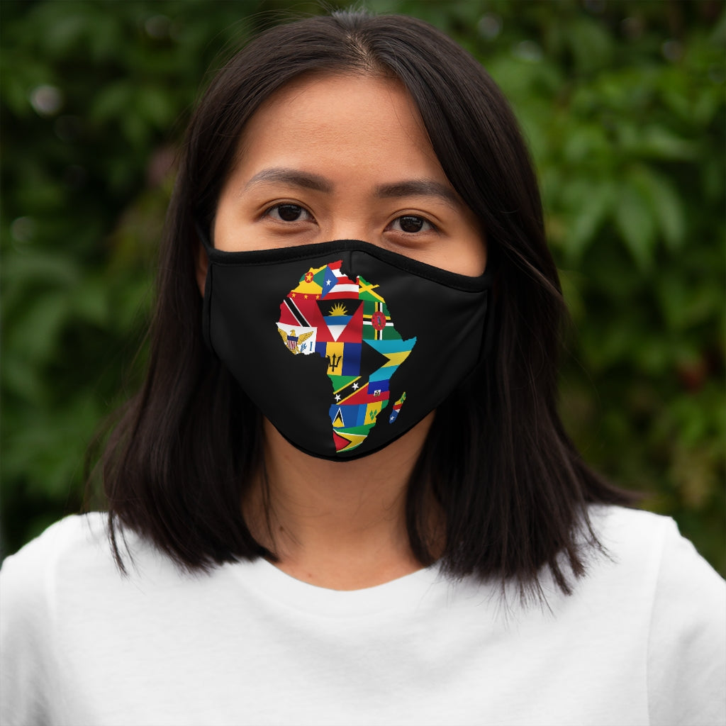 CARIBBEAN CONTINENT VERSION 1 Fitted Polyester Face Mask