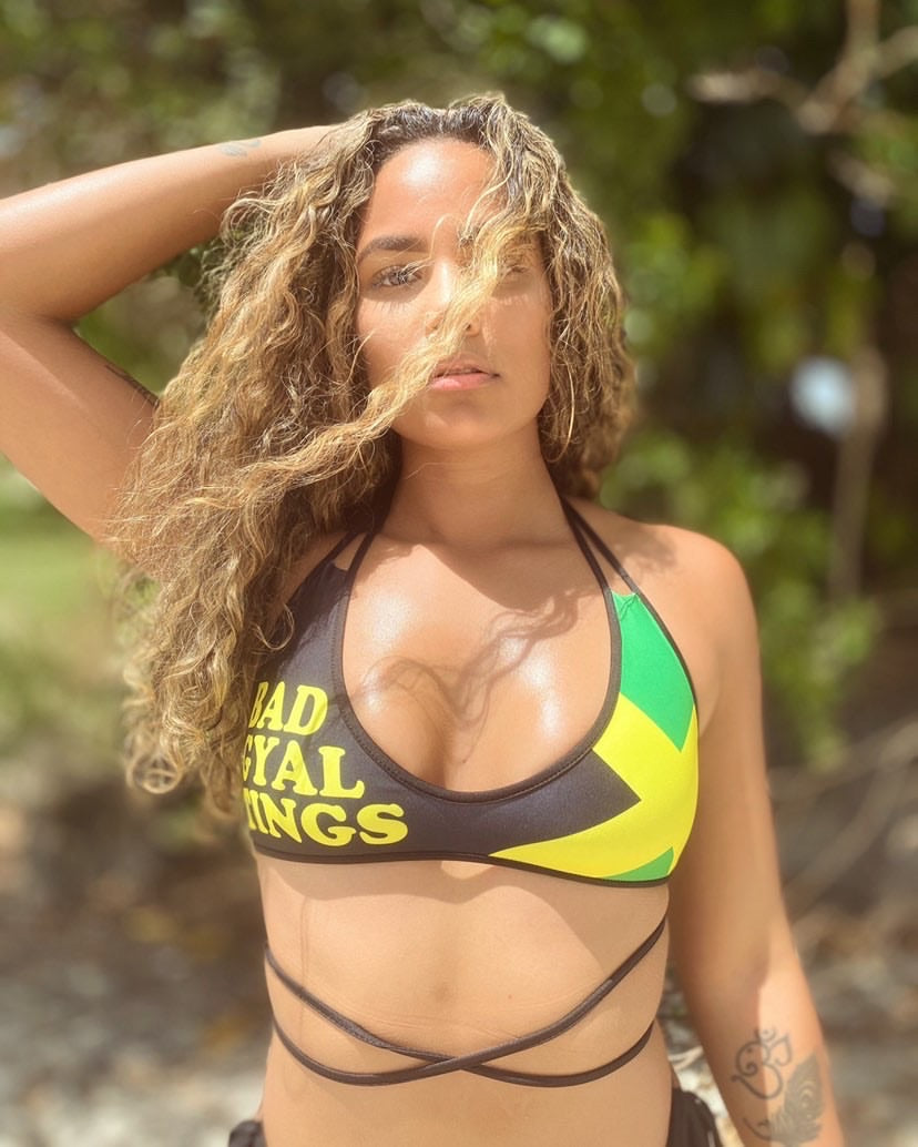 BAD GYAL TINGS JAMAICA Bikini Top