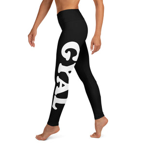 BAD GYAL BIG PRINT Yoga Leggings - Rice & Tees