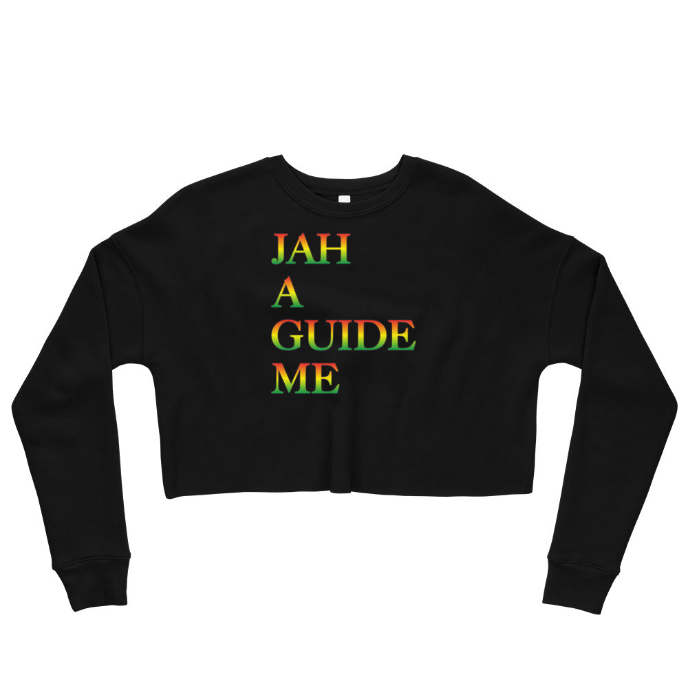 JAH A GUIDE ME Crop Sweatshirt - Rice & Tees