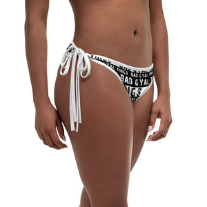 Bad Gyal Tings Black & White Bikini Bottom