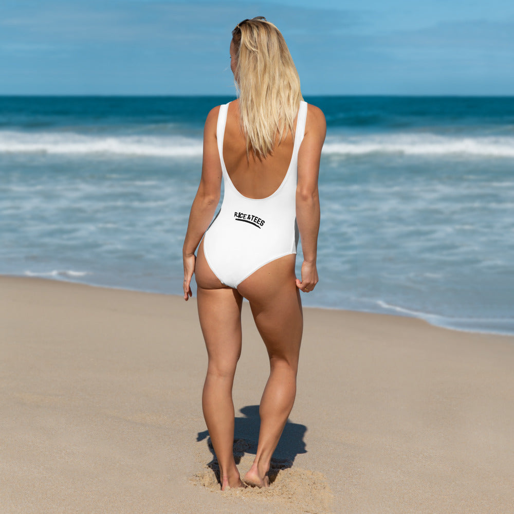 REAL BAD GYAL ANGUILLA One-Piece Swimsuit - Rice & Tees
