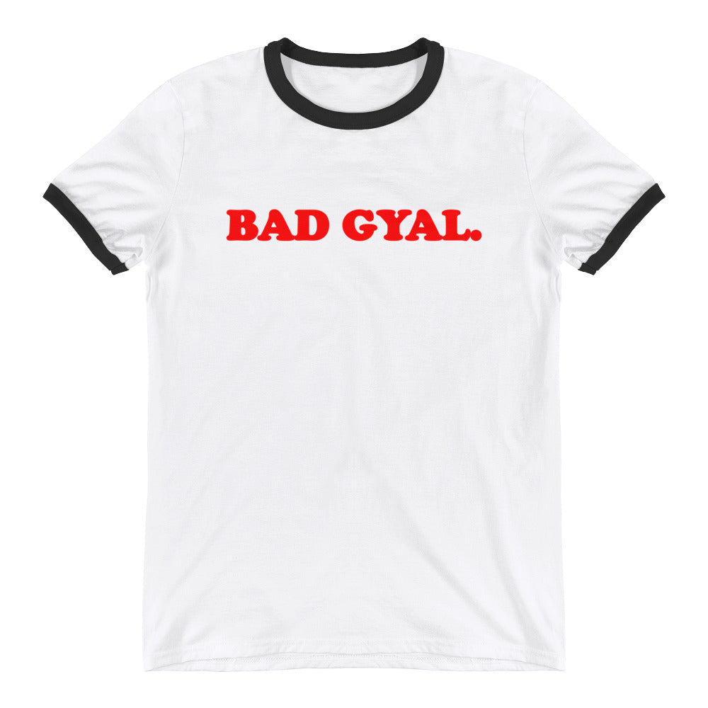VINTAGE BAD GYAL UNISEX Ringer T-Shirt - Rice & Tees