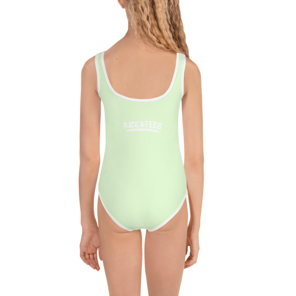GOD BLESSED PICKNEY  Kids Swimsuit - MINT GREEN - Rice & Tees