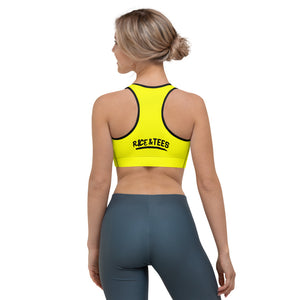 BAD GYAL NUH TEK BADUP Sports bra (BLACK & YELLOW)