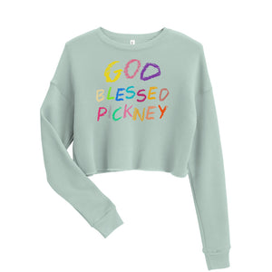 GOD BLESSED PICKNEY Crop Sweatshirt