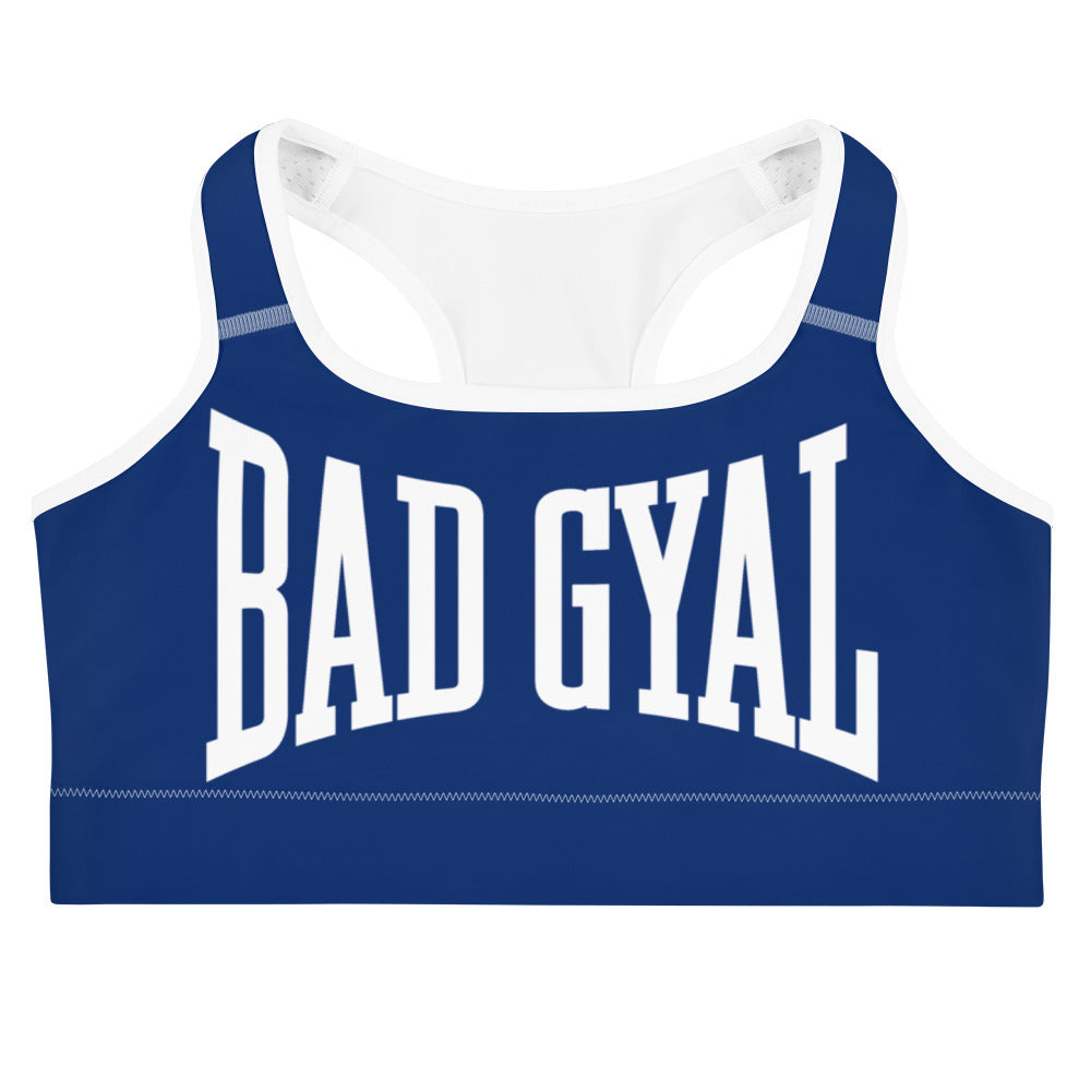 BAD GYAL NUH TEK BADUP Sports bra (BLUE)