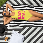 BAD GYAL YELLOW One-Piece Swimsuit - Rice & Tees