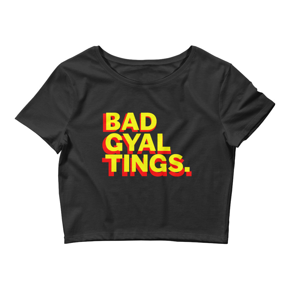 BAD GYAL TINGS Women's Crop Tee - Rice & Tees