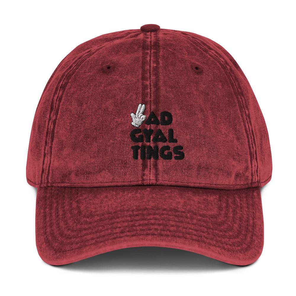 BAD GYAL TINGS GUNFINGER Vintage Cotton Twill Cap