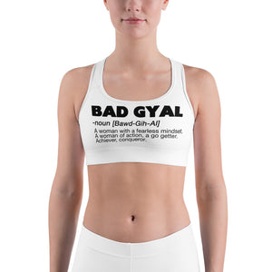 BAD GYAL DEFINITION Sports bra - Rice & Tees