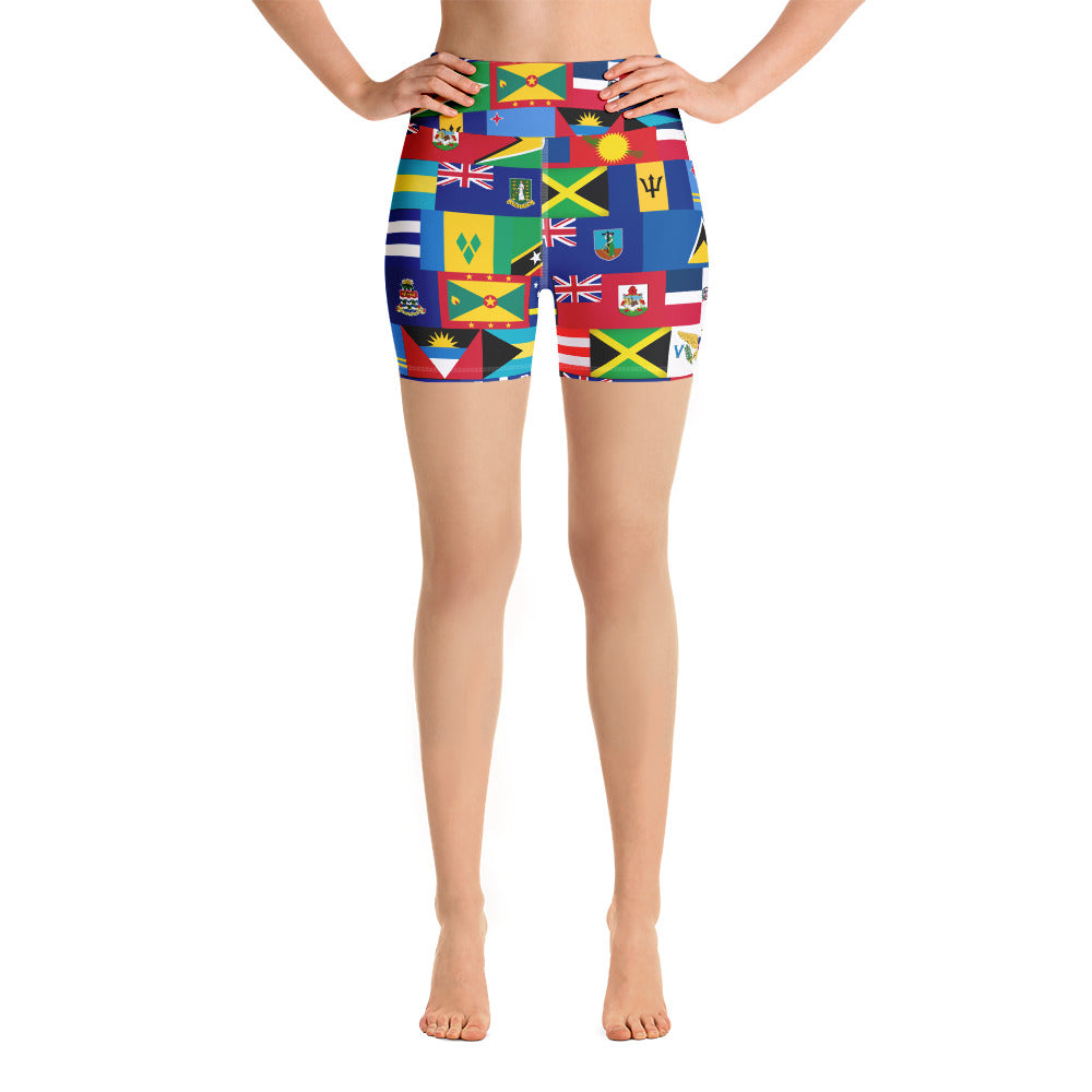 CARIBBEAN ALL INCLUSIVE Yoga Shorts - Rice & Tees
