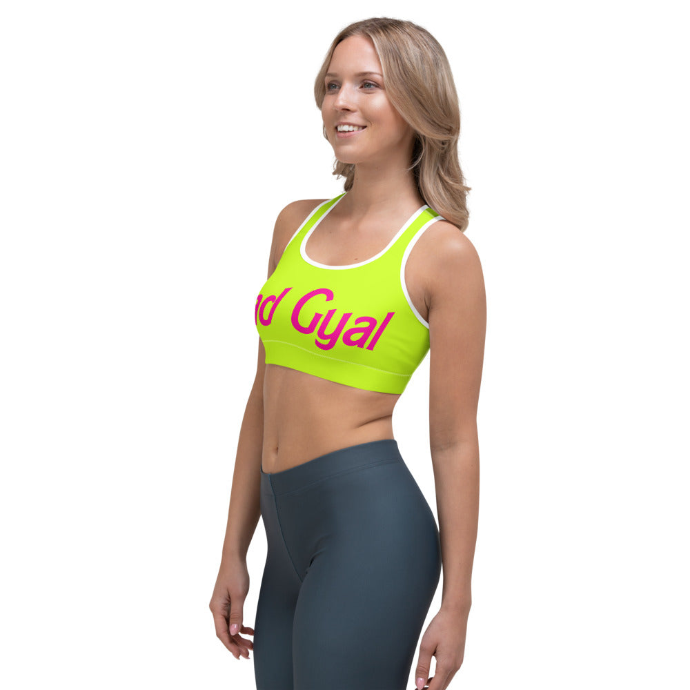 "Bad Gyal ""Baby Dolly"" Sports bra - Lime Green"