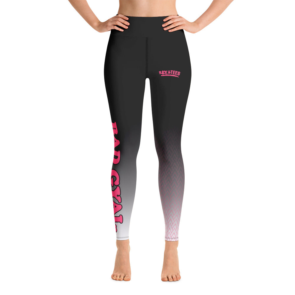 BAD GYAL Tribe Pink Yoga Leggings - Rice & Tees