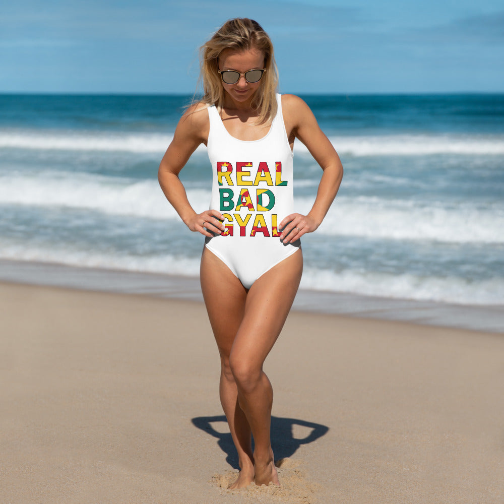REAL BAD GYAL GRENADA One-Piece Swimsuit - Rice & Tees