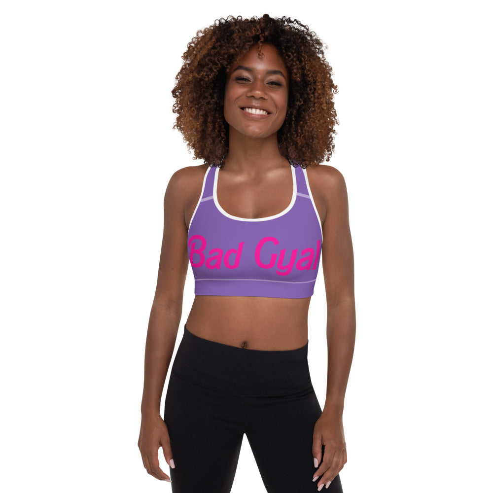 "Bad Gyal ""Dolly Baby"" Padded Sports Bra - Purple Touch"
