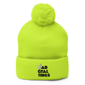BAD GYAL TINGS GUNFINGER Pom-Pom Beanie