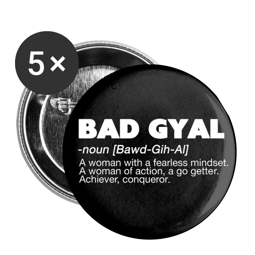 BAD GYAL DEFINITION Buttons large 2.2'' (5-pack) - white