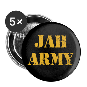 JAH ARMY Buttons large 2.2'' (5-pack) - white