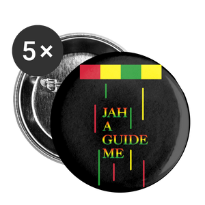 JAH A GUIDE Buttons large 2.2'' (5-pack) - white