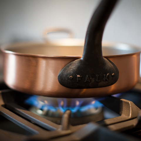 Copper Pan on Gas Stove