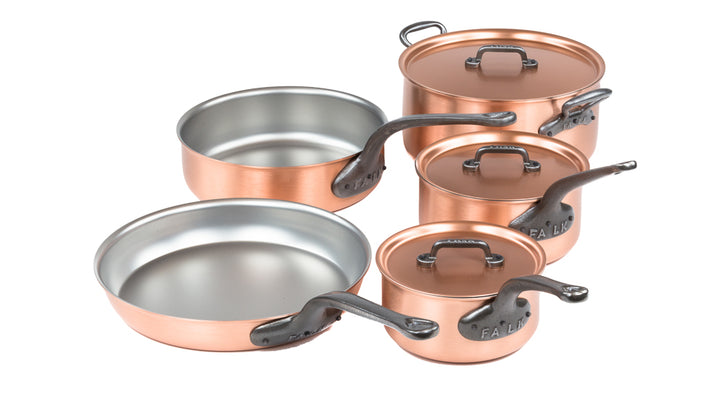 Cast Iron Handle Copper Chef Set