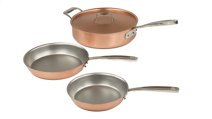 copper frying pan signature set