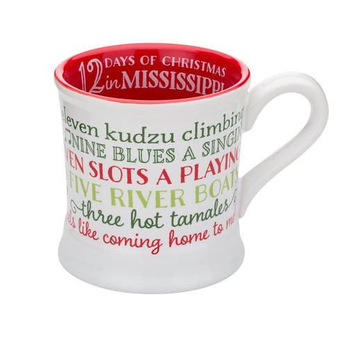 12 Days of Christmas Mississippi 14oz Ceramic Mug