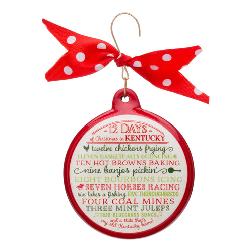 12 Days of Christmas Kentucky Ceramic Ornament