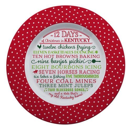 12 Days of Christmas Kentucky Melamine Plate