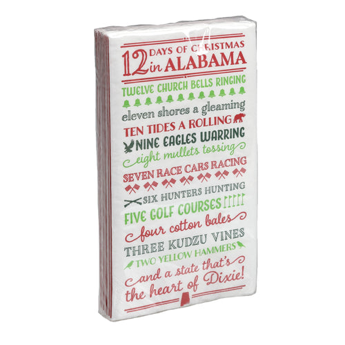12 Days of Christmas Napkins Alabama
