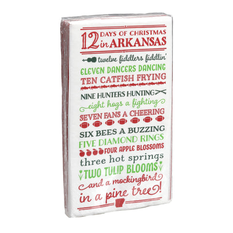 12 Days of Christmas Arkansas Ceramic Tart Dish