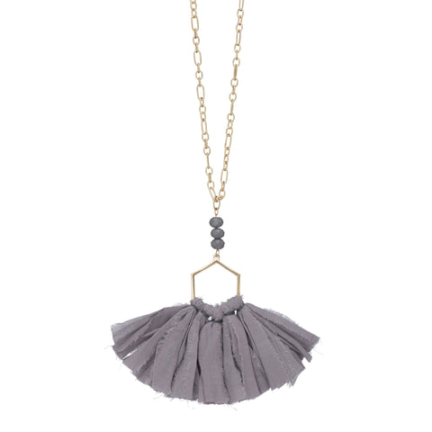Ombre Fan Tassel Necklace