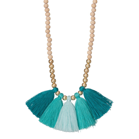 Gold Charm & Tassel Necklace