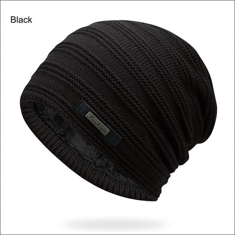 Gray Double-Layer Beanie