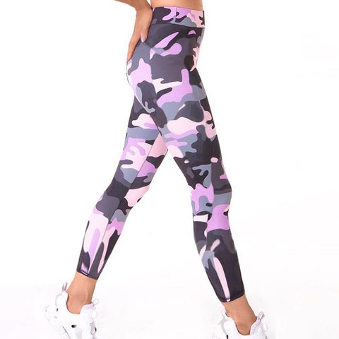 Pink Sexy Camo Workout Leggings - AssToTheGrass