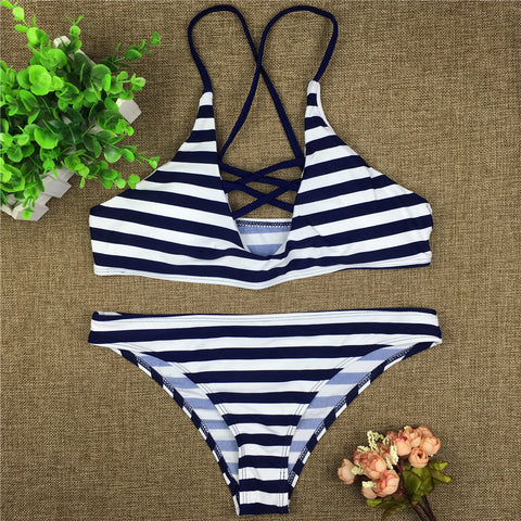 White Blue Swimwear - AssToTheGrass