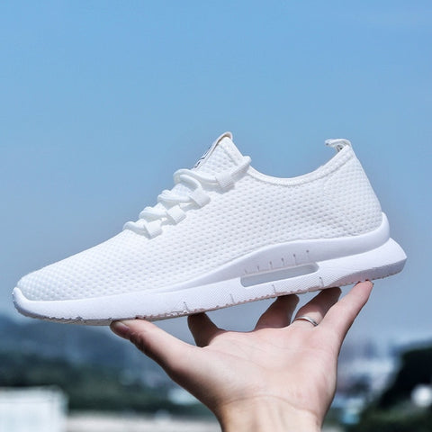 White Lace Up Low-Cut Fly weather Trainers