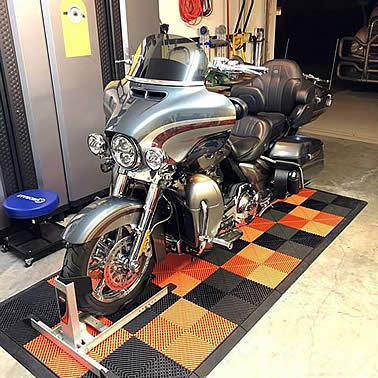 Motorcycle Garage Mat Show Off Your Bike In Style On A