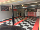 Checkered diamond plate flooring: diamond plate garage flooring tile