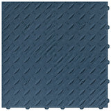 Blue diamond plate flooring: diamond plate garage flooring tile